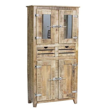 armoire 2 portes frigo bois naturel achat vente armoire