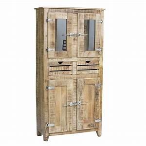 Frigo Gris Pas Cher : armoire 2 portes frigo bois naturel achat vente armoire ~ Dailycaller-alerts.com Idées de Décoration
