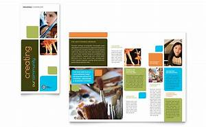 arts council education brochure template word publisher With education brochure templates free