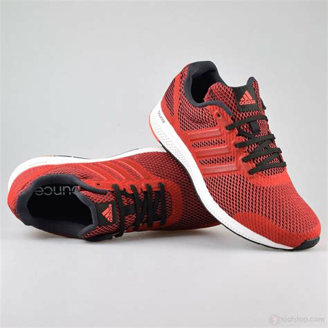 mens adidas  bounce shoes red black sneakers running shoes  ebay