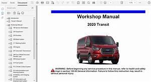 2020 Ford Transit Repair Manual