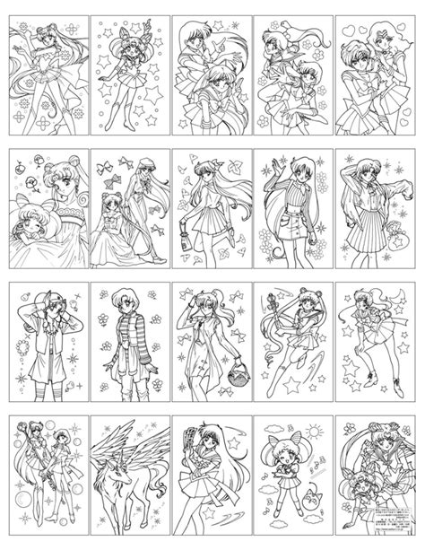 sailor moon world coloring book ぬりえ hellosugah s lj