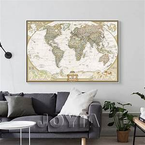 Aliexpress buy world map painting canvas prints