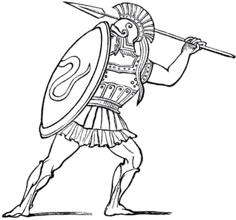 ancient greek soldier coloring page  printable