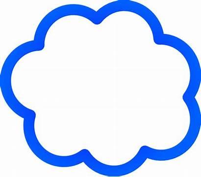 Cloud Bubble Clip Clker Clipart Domain Vector