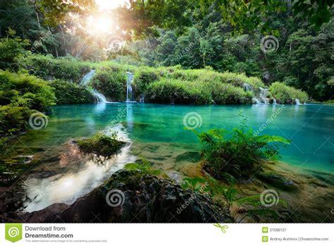 cascades national park  guatemala semuc champey