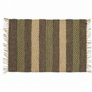 tapis jute lave vert athezza pas cher grandes marques With tapis jute pas cher