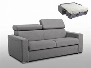 Canapé 140 Cm : canap convertible express tissu en 5 coloris vizir ~ Teatrodelosmanantiales.com Idées de Décoration