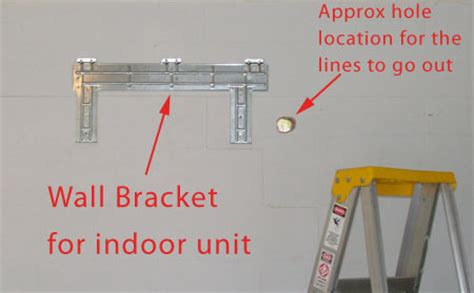 ac system wall bracket attach wall