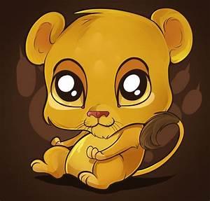 Cute Cartoon Animals with Big Eyes   Cute Lion Tutorial by ...