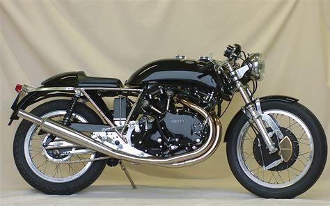 black motorbike godet café racer the egli vincent