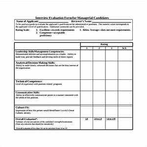 interview evaluation form 14 download free documents in With interview templates for employers