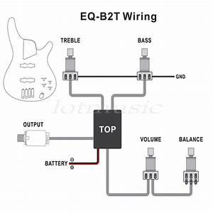 2 U00263 Band Active Guitar Bass Eq Preamp Circuit Tone