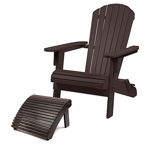 adirondack chair and ottoman westerly acacia wood adirondack folding chair and ottoman