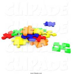 3D Jigsaw Puzzle Pieces Clip Art