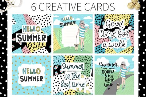 18288 resume exles for it hello summer doodle collection by qil design bundles