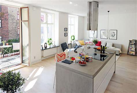 open plan kitchen living room ideas open plan apartment design in gothenburg idesignarch