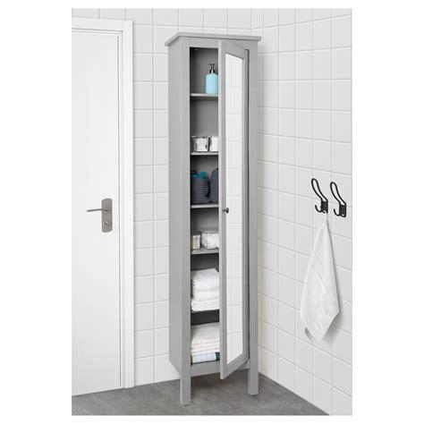ikea hemnes high cabinet  mirror door gray