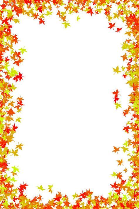 fall foliage border   photo frame  maple
