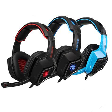 sades gaming headset stereo headphone mm wired wmic  ps xbox pc xboxone ebay
