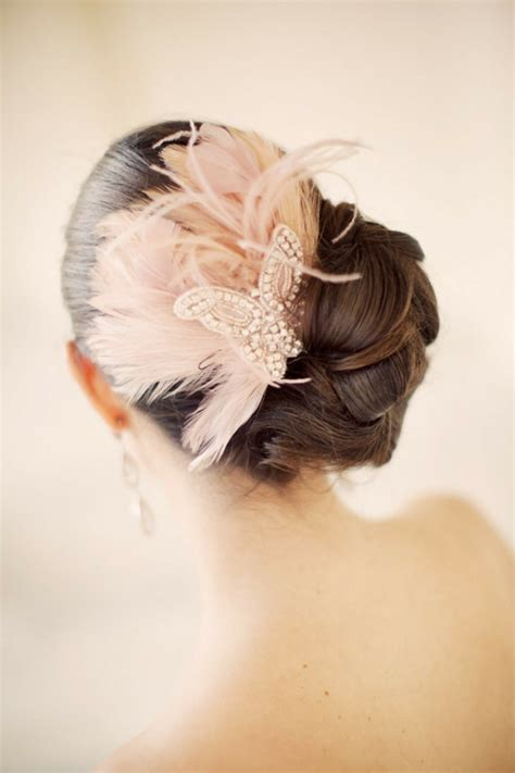 bridal hairstyles open semi open  pinned
