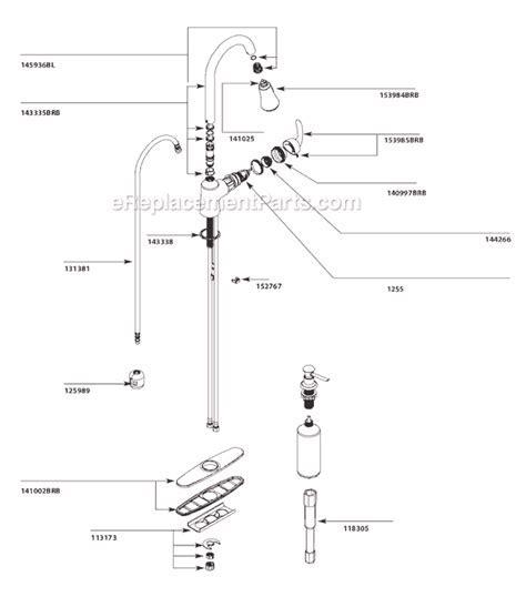Moen CA87094BRB Parts List and Diagram : eReplacementParts.com