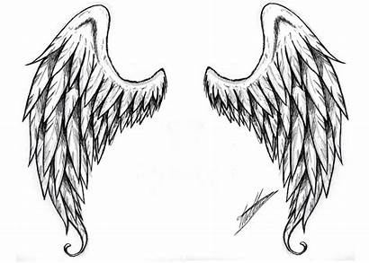 Angel Wings Wing Stencil Clipart Outline Clip