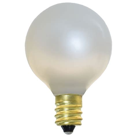 pearl white candelabra base light bulbs 25 pack