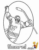 Hockey Coloring Player Print Printable Winter Power Printables Yescoloring Cold Slap Shot Players Sports Gear Playing Bone sketch template