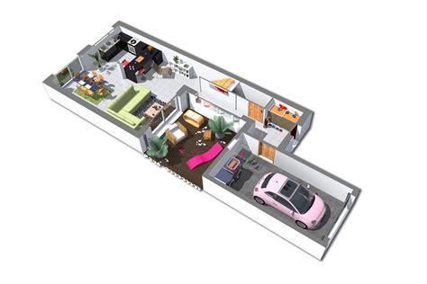 plan plain pied 2 chambres plan maison 93m2 3 chambres gratuit plan n 99 univia