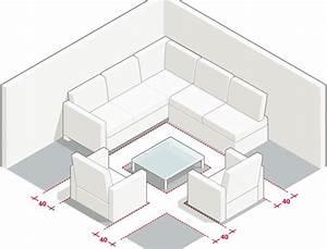 mesures et dimensions pour amenager un salon With tapis bébé avec canapé dimensions standard