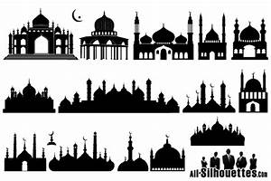 Islamic Mosque Silhouette, vector images