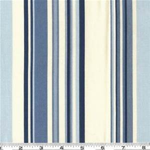 Waverly Sequence Stripe Fabric Porcelain Blue Discount