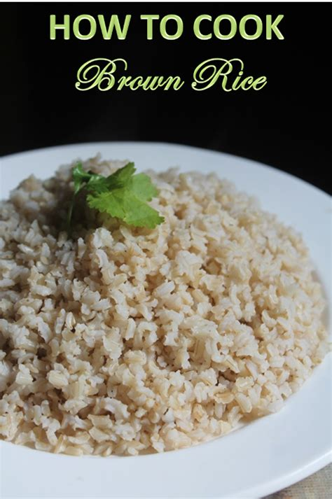 how to cook brown rice how to cook brown rice absorption method yummy tummy