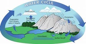 Labeled Water Cycle Diagram