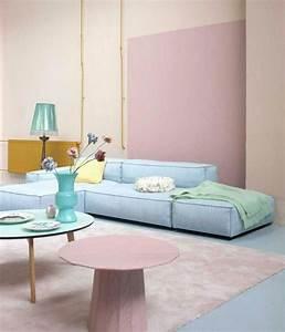 la couleur saumon les tendances chez les couleurs d With tapis couloir avec canapé d angle magasin
