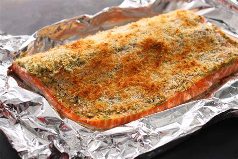 baking salmon basic baked breaded salmon recipe chowhound