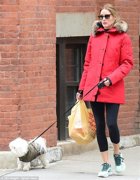 olivia palermo  chic  red fur trimmed jacket