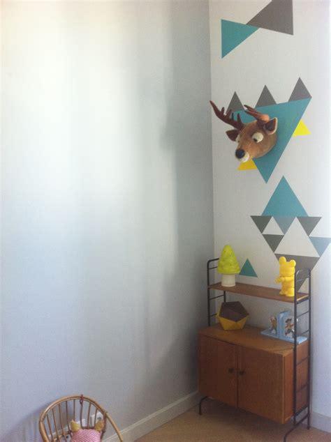 decoration murale bebe chambre peinture chambre geometrique raliss com