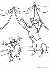 Circus Coloring Pages Horse Printable sketch template