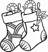 Coloring Pages Socks Christmas Clipartmag Xmas sketch template