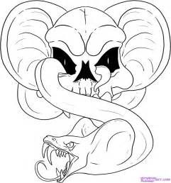 Snake Skull Coloring Pages