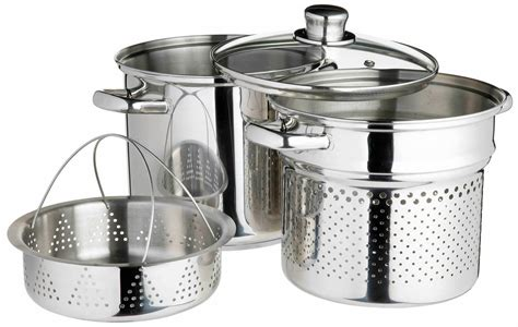 kitchencraft italian pasta pot  steamer insert pots pans cooking products kitchen
