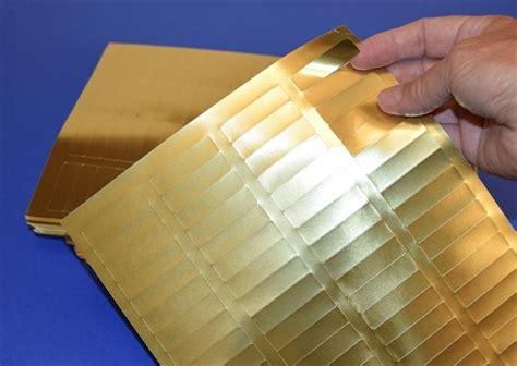 gold foil     laser printable labels   sheet