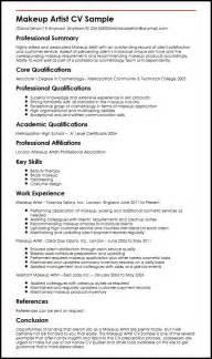 artist resume templates free makeup artist cv sle myperfectcv
