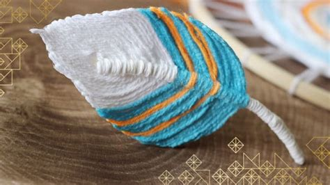 fiber feather dreamcatcher diy craft studio knit