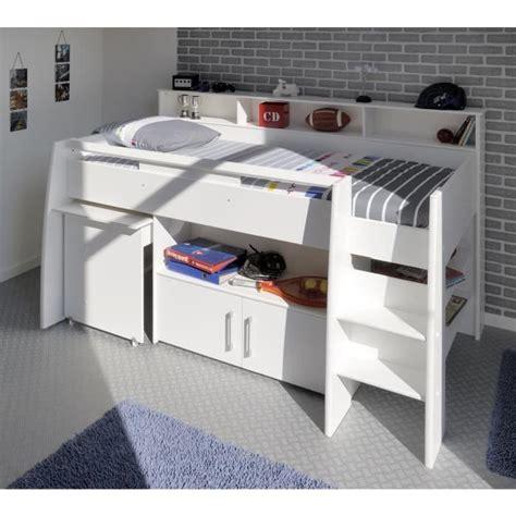 lit combine bureau fille dave lit combiné enfant avec sommier bureau contemporain