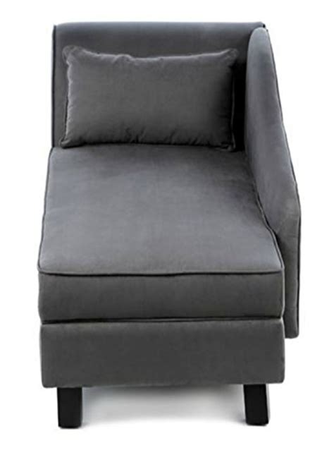 storage chaise lounge chair  microfiber upholstered