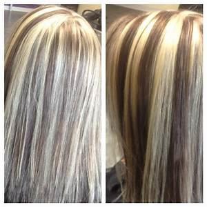 Chunky blonde highlights, dark brown lowlights | Hurr ...