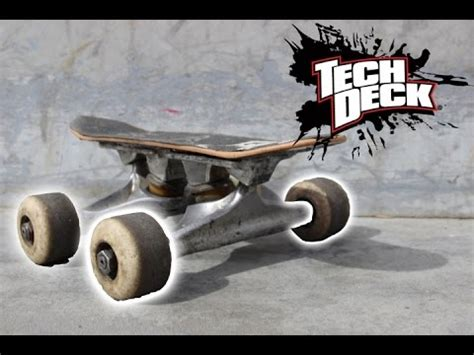 Tech Deck Handboard Tricks by Tech Deck Handboard With Real Skateboard Trucks